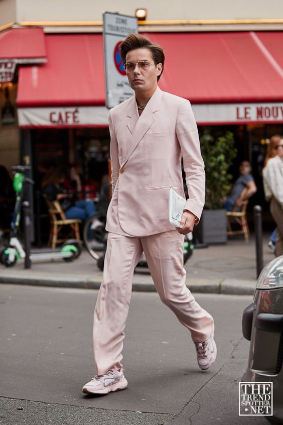 スーツ×スニーカー海外メンズコーデThe Best Street Style from Paris Men's Fashion Week S/S 2020