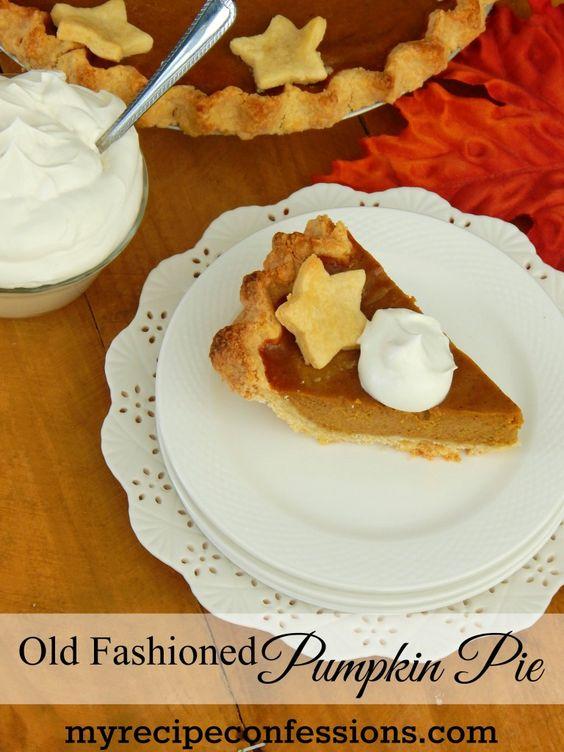 Old Fashioned Pumpkin Pie recipe is best pumpkin pie I have ever ...