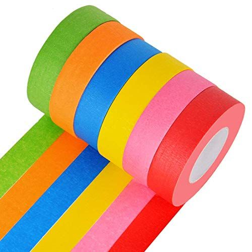 Bright Colored Masking Tape 6 Pack 1 Inch 22 Yard Rolls B Https Www Amazon Com Dp B07dmbktrs Ref Cm Sw R Colored Masking Tape Kids Art Supplies Labels Diy