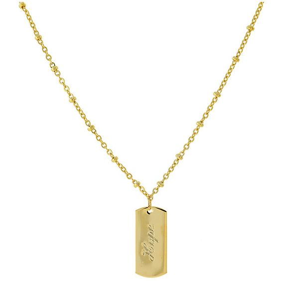 """1928 14K Gold-Dipped """"Hope"""" Necklace ($18) ❤ liked on Polyvore"""