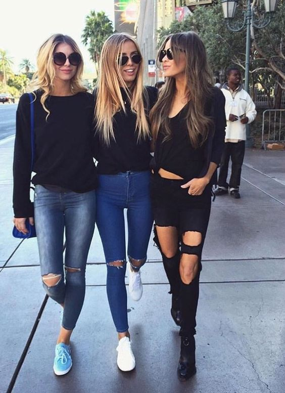 Black holey jeans!
