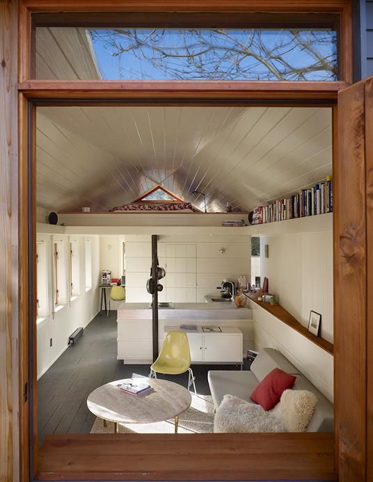 A converted garage...cozy and complete. Please park outside.  #Tiny Home  #Small Spaces