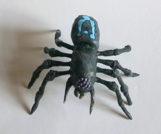 Spider with Blue Markings