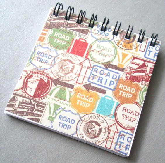 Road Trip  Mini Notebook  3x3 by ARainyDayMarket on Etsy, $3.50