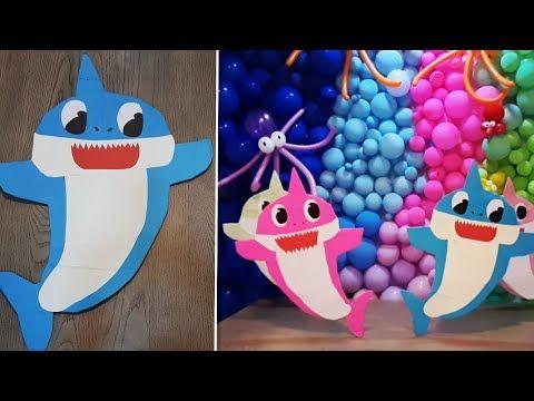 تصميم مجسم بيبي شارك لحفلات الميلاد بدون تكلفه وبمواد متوفره How To Make A Baby Shark Accessorize Youtube Baby Shark Baby Shark