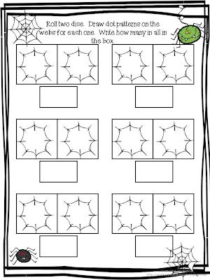 math worksheet : what happens in first grade part part whole spider math activity  : Spider Math Worksheets