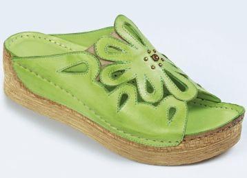 Pantoletten in 2 Farben, Weite G - Pantoletten in 2 Farben, Weite G - Sandaletten & Pantoletten - Komfortschuhe - Damenschuhe - Schuhe & Taschen   BADER