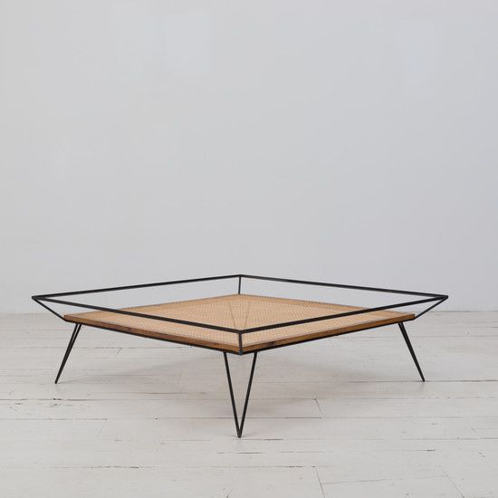 Cane And Metal 1950 S Coffee Table By Martin Eisler Moveis