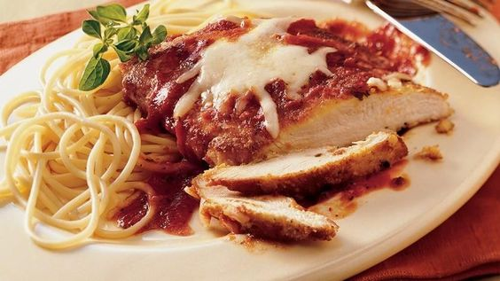 Recipe | Chicken Parmigiana, Skillet Chicken and Breaded Chicken