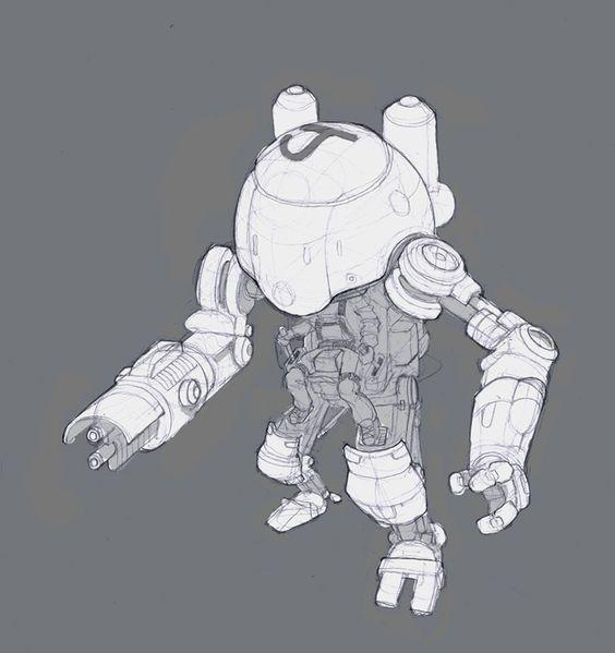 Character Design Challenge On Facebook : Avamech sketch by nerd scribbles on deviantart