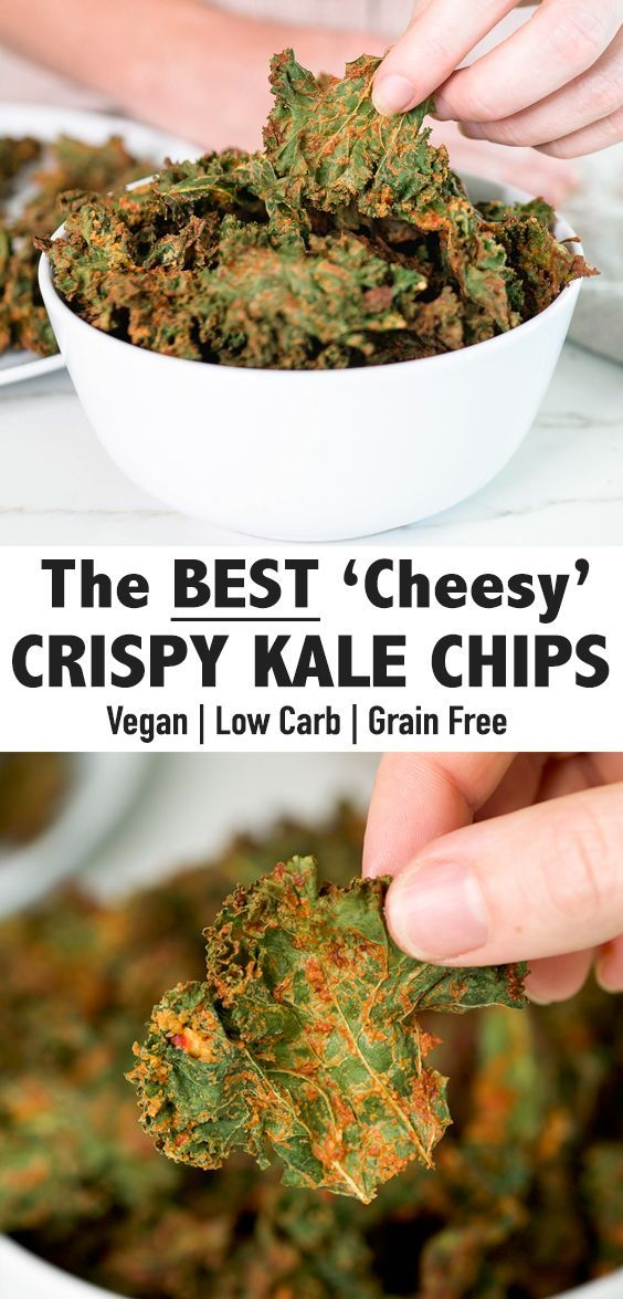 Air Fryer Nacho Cheese Kale Chips Super Crispy Vegan Low Carb Feelin Fabulous With Kayla Recipe In 2020 Kale Chips Kale Chip Recipes Low Carb Vegan