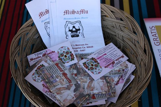 Brochures and Business Cards for Templo Santa Muerte | Flickr - Photo Sharing!