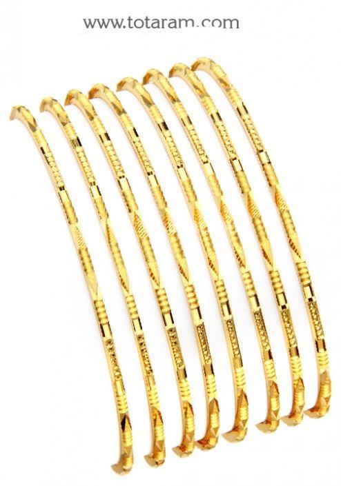Gold Bangle Set 22k Bangles