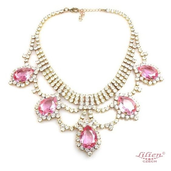 Mystery Necklace Crystal Pink ($40) ❤ liked on Polyvore