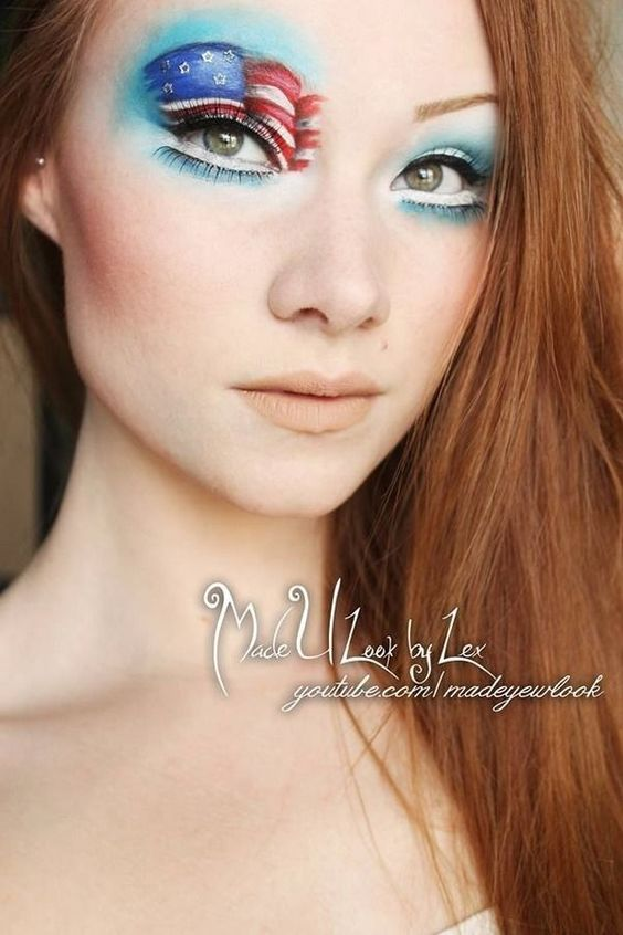 fourth of july facial make up pinterest | Fourth of July