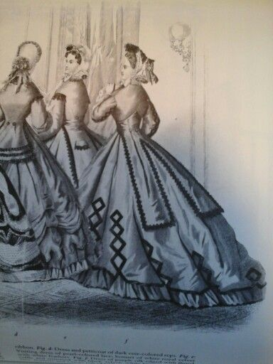 Very elliptical skirt dec 1864: