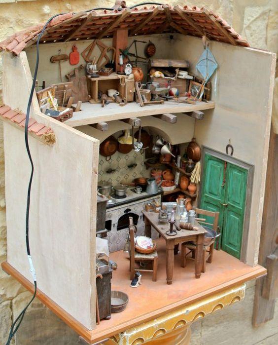 Miniatura - Antica cucina pugliese   07 Miniatures kitchens ...
