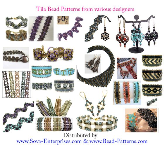 Tila Beading Patterns from various designers!
