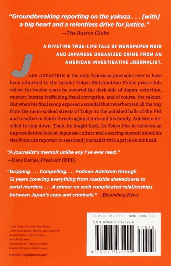 Tokyo Vice An American Reporter On The Police Beat In Japan Jake Adelstein 9780307475299 Amazon Com Books Police Beat Tokyo Vice