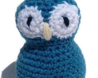Handmade amigurumi crochet stuffed owl