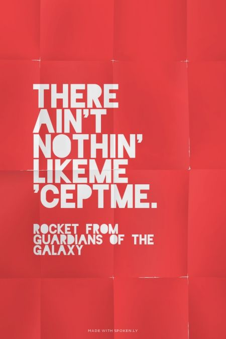 There ain't nothin' like me 'cept me. - Rocket from ...