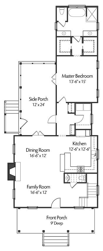 Like the main floor layout of the kitchen fr dr with for Master bedroom layout