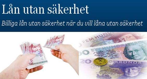 Billigaste lånet utan säkerhet