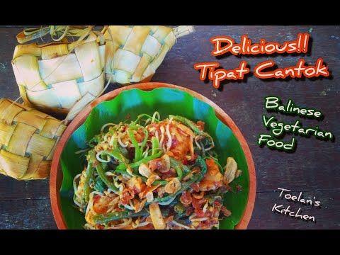 Cara Membuat Tipat Cantok Balinese Vegetarian Food Youtube Vegetarian Recipes Vegetarian Food