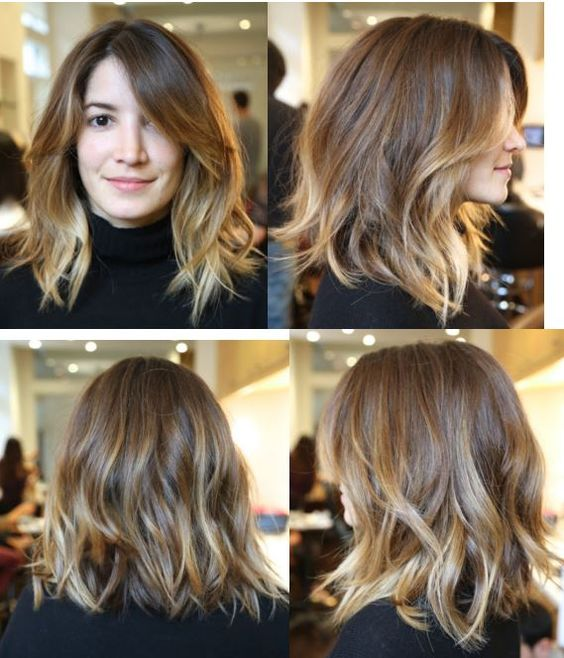 Annabelle's Hair 4 months later reshaped, medium length wavy hair, by Anh Co Tran