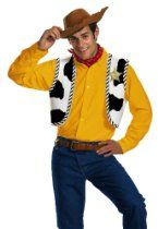Disguise Men's Disney Pixar Toy Story and Beyond Woody Adult Costume Kit   Halloween Galaxy