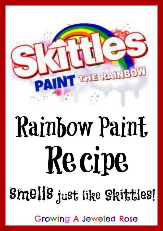 Rainbow Paint that smells just like Skittles- sensory painting at it's best!  Paint the rainbow! God Gives Promise!: Painting Piedmont, Sensory Painting, Craft Recipes, Kids Crafts, Rainbow Bath, Rainbows Preschool, Bath Time