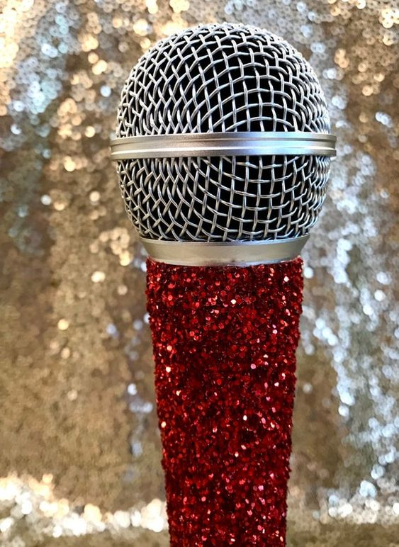 Glitter Bling Microphone Red In 2020 Pink Phone Cases Microphone Tattoo Microphone