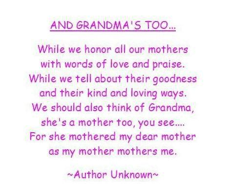 Great Grandma Birthday Quotes Grandmother Poems