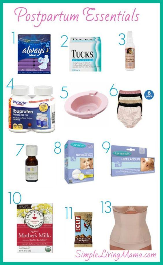 Postpartum Essentials for Mama - Simple Living Mama