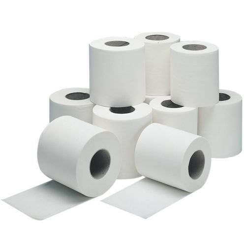 Details About White Toilet Roll 100 Recycled 320 Sheets X 36