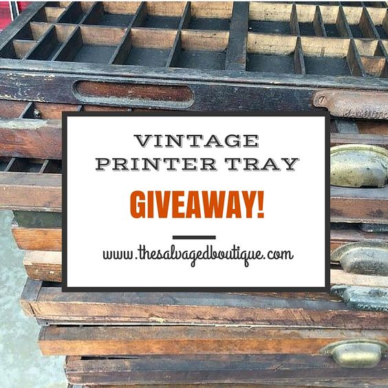 The Salvaged Boutique shares ideas on how to upcycle a vintage printer tray. Enter a giveaway to win a free vintage printer tray to start your own project!