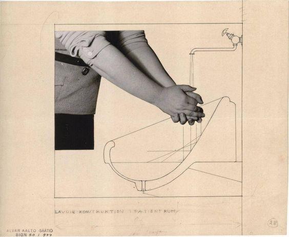 Alvar Aalto, Washbasin for the Tuberculosis Sanatorium in Paimio, Finland, (1929)