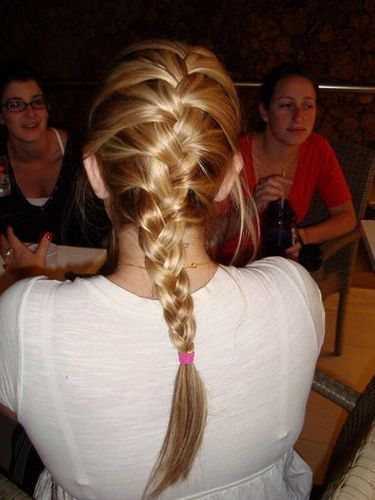 French Braid. I wish i could do this to myself.