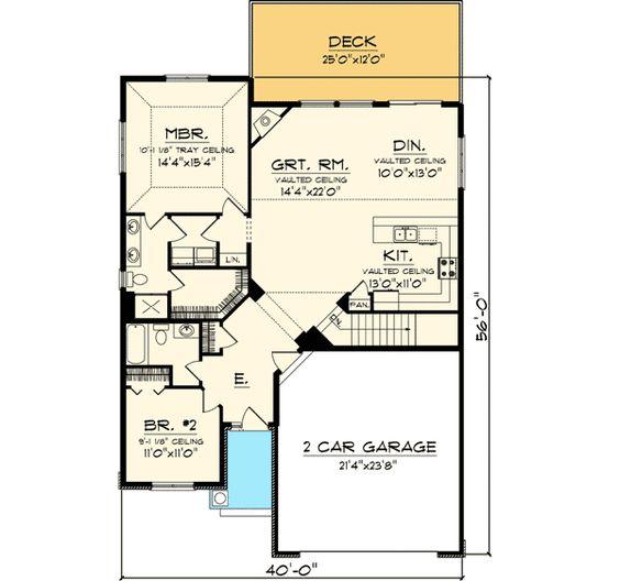 Plan 89812ah Simple 2 Bedroom Craftsman Cottage Simple