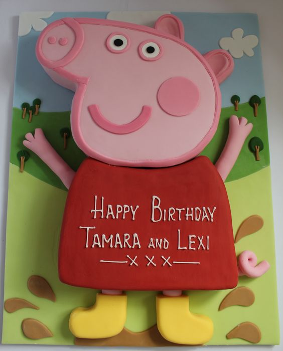 peppa pig cake template free - peppa pig birthday cake pig birthday cakes and pig