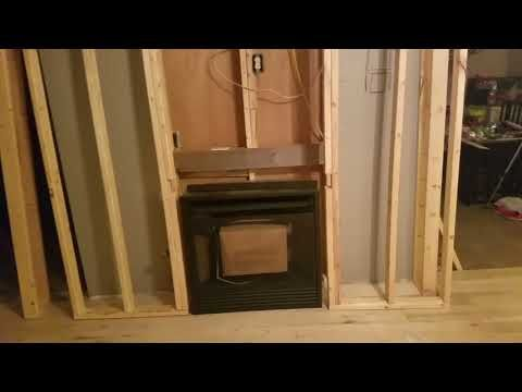 Gas Fireplace Insert Installation Framing A Wall For A Gas Heater Youtube Fireplace Inserts Gas Fireplace Insert Fireplace Insert Installation
