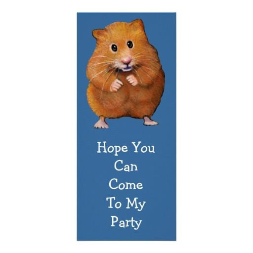 Hamsters, Original Art And Party Invitations On Pinterest
