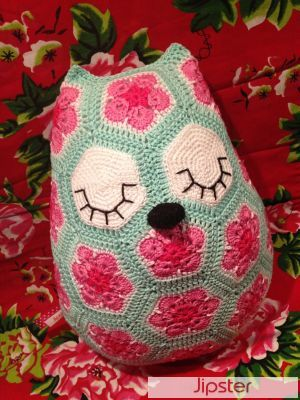 Crochet African Flower Owl Free Pattern Dancox For