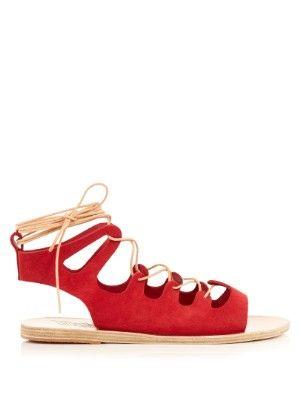 Antigone suede lace-up sandals | Ancient Greek Sandals | MATCHESFASHION.COM US