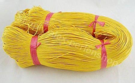 5m Baumwollband gewachst Gelb