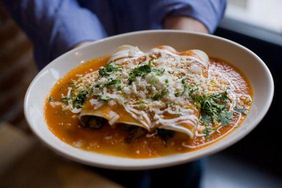 Spinach And Mushroom Enchiladas Recipe