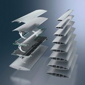Starre horizontale Großlamellen für Sonnenschutzanlagen von GIP Glazing