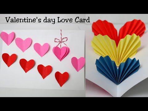 Diy Valentine S Day Card Handmade Heart Pop Up Card For