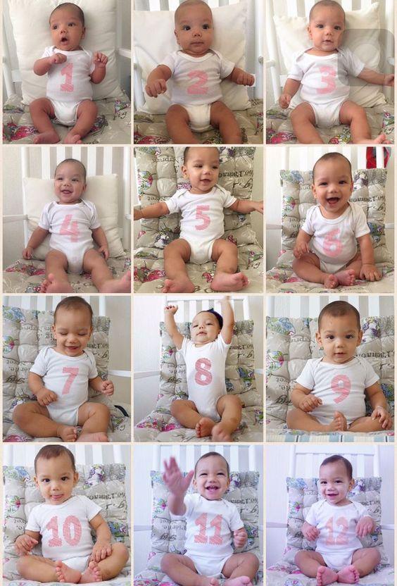 Детские фото идеи 1-12 месяцев | Впервые мама