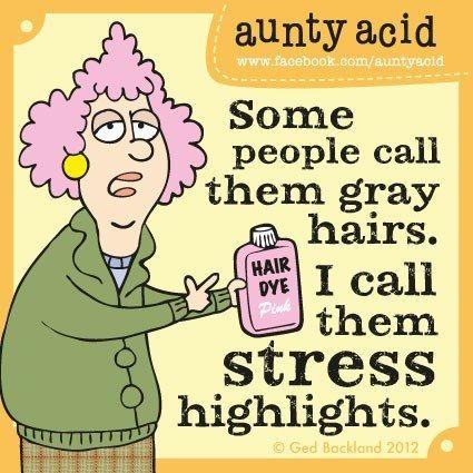 Aunty Acid - grey hair                                                                                                                                                      More